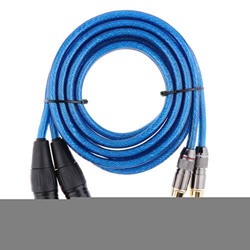 H HILABEE 2 XLR Stecker Auf 2 Cinch Stecker HiFi Audio Patch Verlängerungskabel - 2m Cinch-audio-patch-kabel