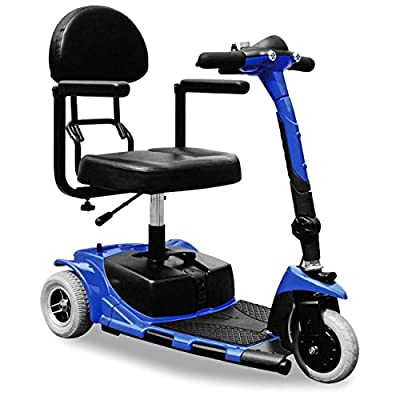 ZTECH FOLDING Electric Wheelchair Tricycle Portable Electric Mobility Scooter 3 Wheeled Shoprider 180W TRILUX electricial vehicle up to 3,7mph