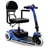 Faltbar DreiRad ElektroRoller Shoprider Senioren Elektrische Rollstuhl Dreirad Elektrische Mobilität Scooter mit 3 Rädern 180W Trilux Electricial Fahrzeug bis zu 6 km/h Blau