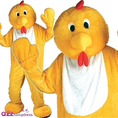 icken Mascot Mens Fancy Dress Costume (Türkei-maskottchen-kostüm)