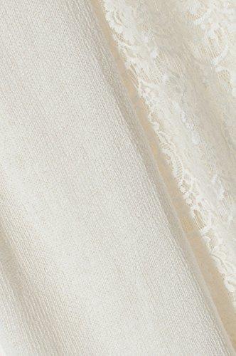 Cherry Paris Kyara PROMO-Pullover a maniche lunghe, smaltato con fodera e pizzo con maniche, taglia unica Bianco