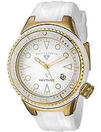 Swiss Legend Mujer 11044D-YG-02-WHT Neptune White Dial White Silicone Reloj