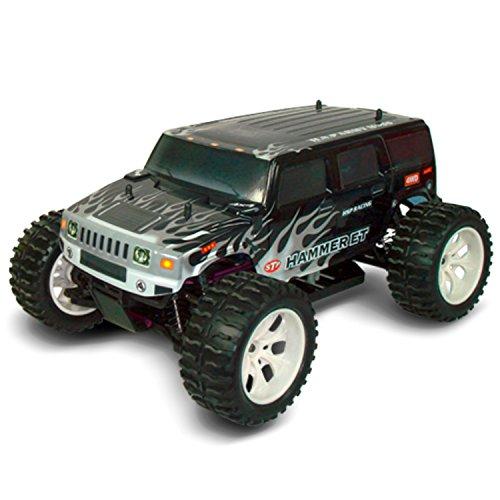 Preisvergleich Produktbild Allrad Monstertruck HAMMER ET Schwarz 1:10 4WD mit Hochleistungsmotor und-akku, Pistolen-Fernsteuerung (2,4 GHz) und Ladegerät