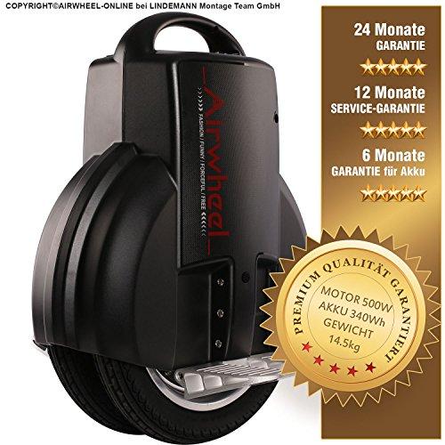 AIRWHEEL Q3S de monociclo eléctrico Scooter Self Balancing Scooter Negro + 24MESES DE GARANTÍA, garantía de 12meses de servicio, 6meses de garantía para batería