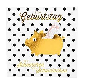 Depesche 8211.018Tarjeta de felicitación Glamour con Ornamento y Purpurina, cumpleaños