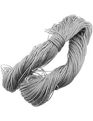 DealMux 120M x 1,5 mm cable flexible de cables de nylon gris para las redes de pesca