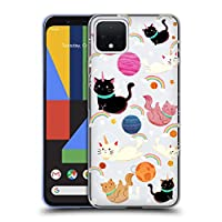 Head Case Designs Cat Space Unicorns Soft Gel Case Compatible for Google Pixel 4
