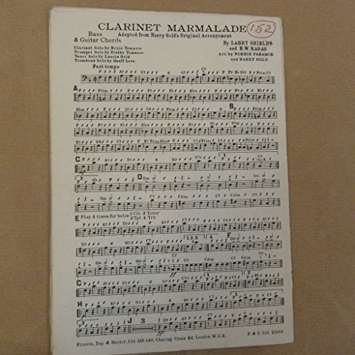 combo / band parts CLARINET MARMALADE arr norrie paramor& harry gold Shield Combo