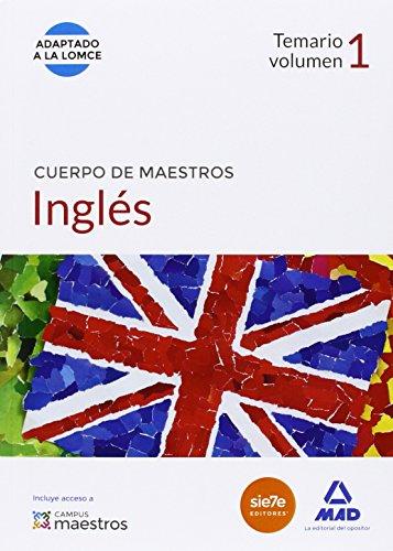 Cuerpo de Maestros Inglés. Temario volumen 1 (Maestros 2015) por S.L. CENTRO DE ESTUDIOS VECTOR
