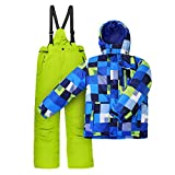 Outburst Jungen Nickel Kinderskianzug, Blau/Lemon, 116