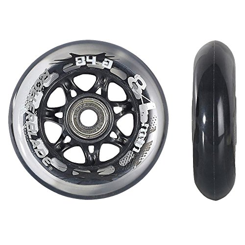 Clear , 84mm/84A : Rollerblade ABEC 7 Skate Bearings Complete Wheel Kit