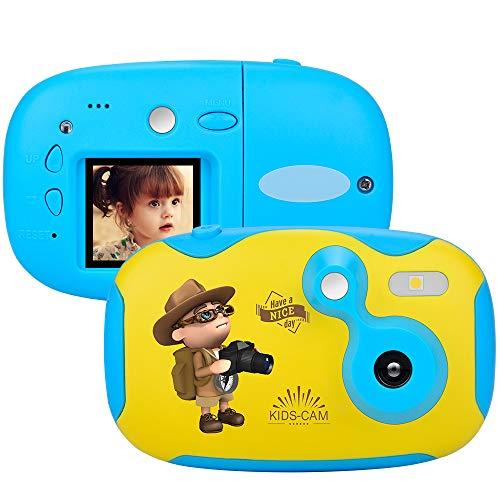 weton Kinder Kamera, 1,44 Digital Videokamera Kreative DIY Kamera FÜR Kinder Mit Silikon SchutzhÜLle 1080p HD Sport Mini Kamera Lernen FÜR Jungen Mädchen