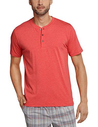 Schiesser Herren Schlafanzugoberteil Mix & Relax Shirt Kurzarm Rot (Rot-Mel. 509)