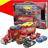 7 Piece / Set Pixar Car 3 Lightning McQueen Jackson Storm Material Mack Uncle Truck 1:55 Die Casting Metal Car Model