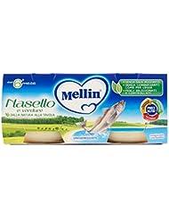 Mellin Alimento per l'Infanzia, Omogeneizzato alle Nasello e Verdure - 2 Vasetti da 80 gr