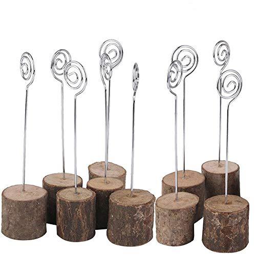 GZQ 10 Stück Tischnummernhalter aus Holz mit Sockel für Namensschilder für Hochzeit, Party, Event, Küche, Geschäft, Zuhause, Büro, Dekoration