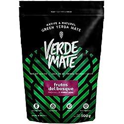 Yerba Verde Mate Frutos del Bosque 500g | Yerba Mate de Brasil | Yerba Mate de Alta Calidad | Yerba Mate Saborizada | Yerba Mate Sin Gluten | Sin Humo