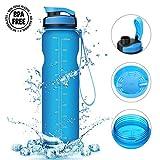 Bottiglia d'acqua Sportiva,CAMTOA 36oz/1000ml Sport Borraccia prova di perdite