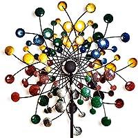 GemTune Garden Metal Wind Spinner en Colorido Estilo Pintado