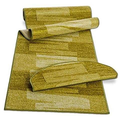 casa pura® Pattern Carpet Floor Runner, Via Veneto - Green