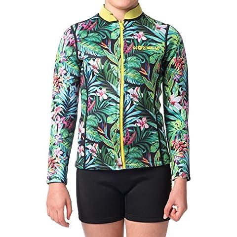 Muta da donna ULTA-Stretch, a doppio strato, di lusso, DISEGNI boutique per ragazzi e ragazze–Design Tropicale, Sm
