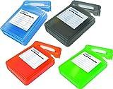 4 Stück LogiLink UA0133 Festplatte Schutzhülle (alle 4 Farben) für je 1x 8,9 cm (3,5 Zoll) HDD, blau, grün, orange, schwarz (3.5