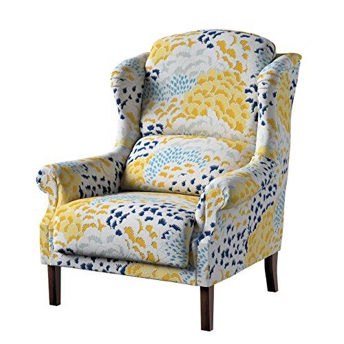 Dekoria Sessel 85 x 107 cm Gelb-Blau