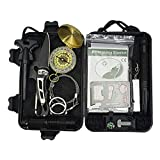 Tactical Area Survival-Kit SOS-EDC-Notfall-Survival-Armband, Feuerstarter, Pfeife, Holzschneider, Decke, taktischer Stift