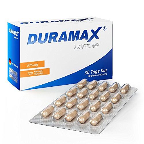 Duramax LevelUp - Die 30-Tage Kur zur Stärkung der Manneskraft! - Libido, Standfestigkeit, Ausdauer & endlich wieder Spontanität für Männer - 120 Kapseln a 575mg