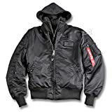 Alpha Industries Herren Bomberjacken MA-1 D-Tec SE Flight schwarz XL
