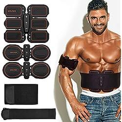 BALFER Cinturón Abdominal Electroestimulador Tonificador de Músculos del Abdomen Piernas Brazos para Hombres y Mujeres Cinturón Tonificador Muscular Eléctrico Estimulador Abs