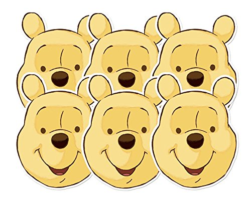 Star Cutouts–stsmp65–6Masken für Erwachsene Winnie–Winnie Puuh–Einheitsgröße (Karneval Kostüme Zeichnungen)