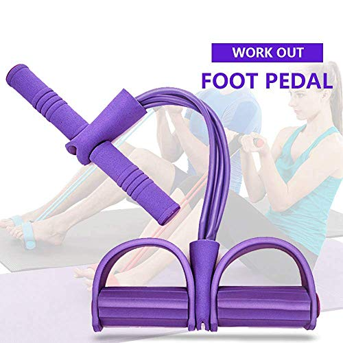AJSCOP 4 Tube Strong Fitness Resistance Bands Latex Pedal Exerciser Women Men Sit Up Pull Ropes Yoga Fitness Equipment