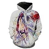 Hoodie Hombre Mujeres Funny 3D Impreso Sudaderas con Capucha Unisex Sweatshirt Pullover Brown Horse 6XL