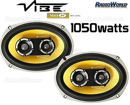 VIBE  6x9`` 6 x 9 Car speakers door/rear shelf 3 Way Blackair 1050W