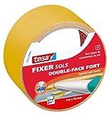 Tesa 56137-00000-00 Fixer Sols Double-face Fort Spécial Sols Lisses 5 m x 50 mm