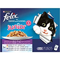 Felix Junior As Good as it Looks Mixed Selection Wet Cat Food Pouch, 100 gm - Pack of 12