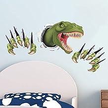 Pegatina pared 3D dinosaurio garras para dormitorio cuartos de juegos 87 x 45 cm de OPEN BUY