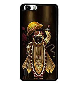 FUSON Lod Swami Shreenath Ji Designer Back Case Cover for Huawei Honor 6 Plus