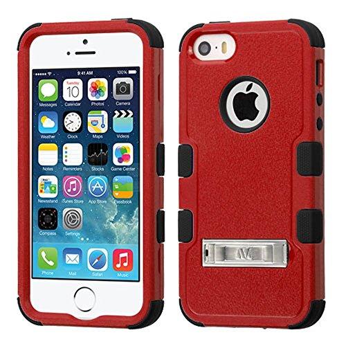 Asmyna Handy Fall für Apple iPhone SE-Natur Rot/Schwarz (Iphone 5 Handy-fällen, Speck)