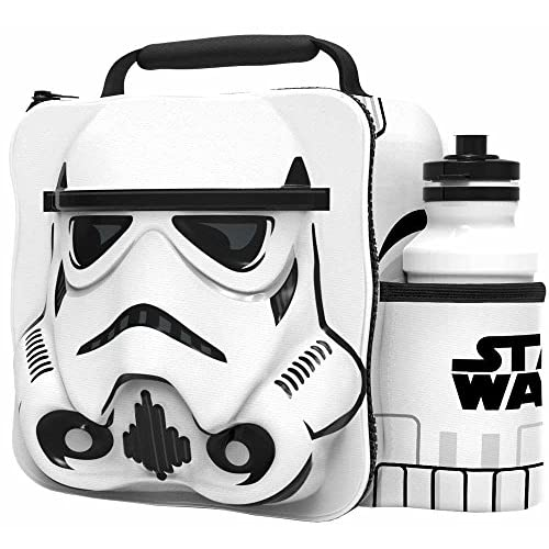 51cxp6Faj1L. SS500  - Storm Trooper (Star Wars) 3D Childrens Lunch Bag With Bottle