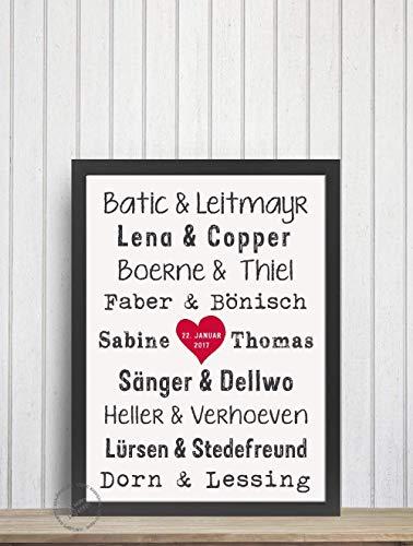 DIN A4 GRAFIK, POSTER, Druck *zur Hochzeit/Verlobung/Feier für das Traum-Paar* berühmte Paare Topf und Deckel Tatort Komissare