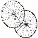 Taylor-Wheels 26 Zoll Laufradsatz Hohlkammerfelge für Schraubkranz- silber