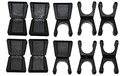 """10x Clip für 2 Stangen mit Ø 25 mm, Verbindungsclip, Halteclip """"vergleichbar erima Verbindungsclip, Größe: 1,alpas, Saller, Jako"""""""