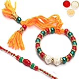 Best Bracelet Gifts - Ghasitaram Gifts Strand Bracelets for Men Rakhi (Multicolour)(r17bbrsbangle19) Review