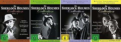 Die Sherlock Holmes Collection Teil 1 - 4 komplett im Set - Deutsche Originalware [14 DVDs] (Collection 4 Dvd-set)