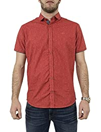 chemise manches courtes lee cooper 005474 drazik rouge