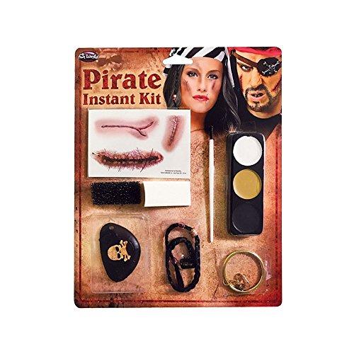 cy Dress Make Up Kit with Teeth Makeup Pencil & Beaded Hair (Pirate Kit Make Up)