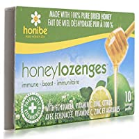 Honibe Lozenges - Imune Boost with Echinacea, Vitamin C, Zinc and Citrus - 10 Lozenges