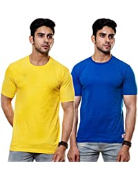 EnquotismPack Of 2 Plain Round Neck T-shirts